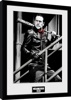 Framed poster The Walking Dead - Negan Stairs