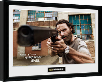 The Walking Dead - Rick Gun Framed poster