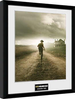 Framed poster The Walking Dead - Season 2