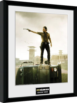 Framed poster The Walking Dead - Season 3