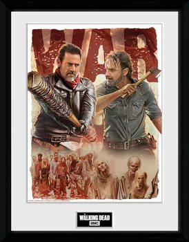 The Walking Dead - Season 8 Illustration Framed poster