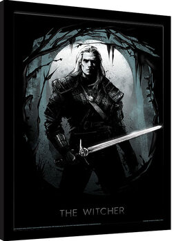 Framed poster The Witcher - Lair of the Beast