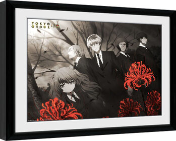 Framed poster Tokyo Ghoul: Re - Red Flowers