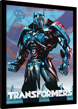 Transformers The Last Knight - Optimus Framed poster