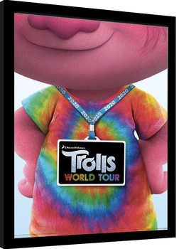 Framed poster Trolls World Tour - Backstage Pass