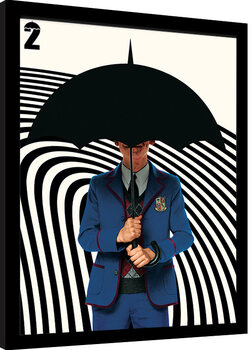Framed poster Umbrella Academy - Five