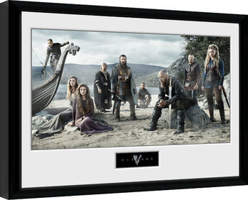 Framed poster Vikings - Beach