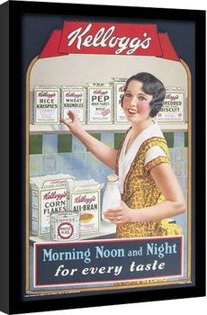 VINTAGE KELLOGGS - morning,noon & night Framed poster