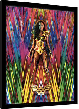 Framed poster Wonder Woman 1984 - Neon Static
