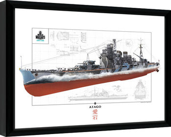 World Of Warships - Atago Framed poster