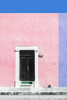 Art Print on Demand 124 Street Campeche - Pink & Purpe Wall