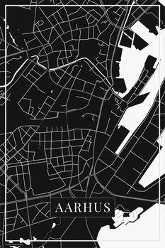 Map of Aarhus black