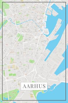 Map of Aarhus color