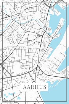 Map of Aarhus white