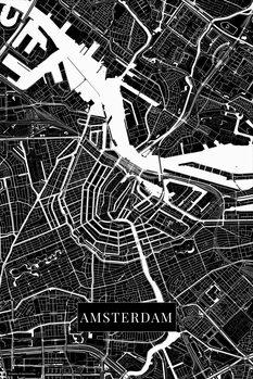 Map Amsterdam black