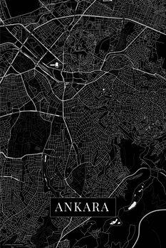 Map of Ankara black