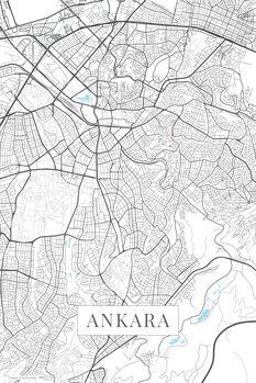 Map of Ankara white