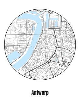 Map of Antwerp