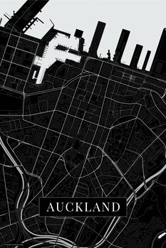 Map Auckland black