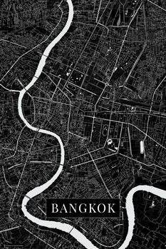 Map of Bangkok black