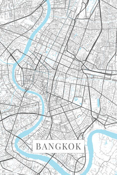 Map of Bangkok white