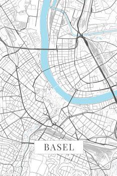 Map Basel white