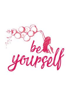 Art Print on Demand Be yourself - Pink