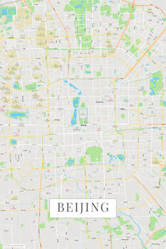 Map of Beijing color