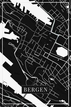 Map of Bergen black