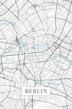 Map Berlin white