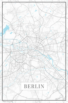 Map of Berlin white
