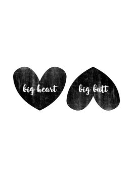 Illustration Big Heart Big Butt