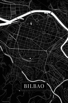 Map Bilbao black