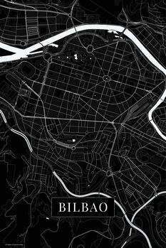 Map of Bilbao black