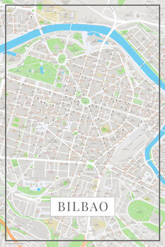 Map of Bilbao color