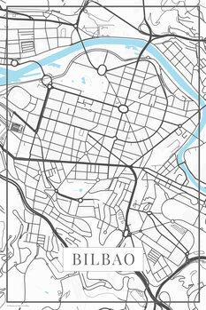 Map Bilbao white