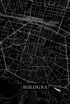 Map of Bologna black