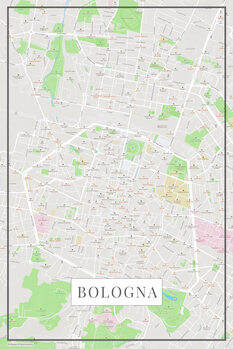 Map of Bologna color