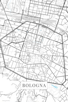 Map of Bologna white