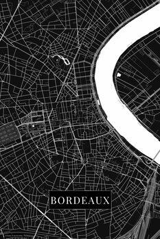 Map of Bordeaux black