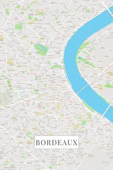 Map of Bordeaux color