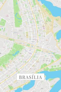 Map Brasilia color