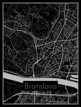 Map of Bratislava