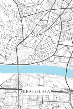 Map Bratislava white