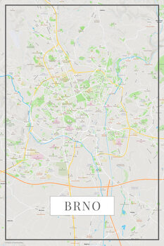 Map of Brno color