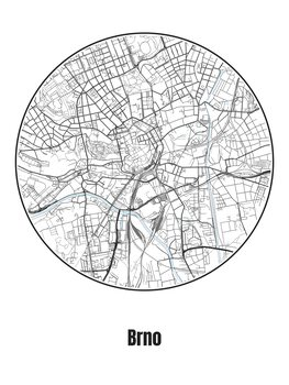 Map of Brno