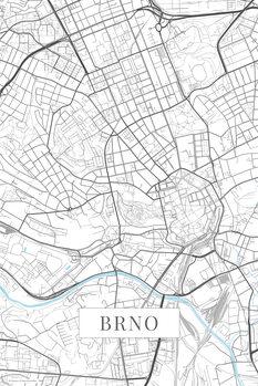Map Brno white