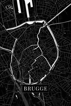 Map Brugge black