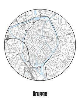 Map of Brugge