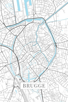 Map Brugge white